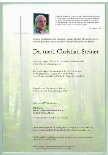 Dr. med. Christian Steiner