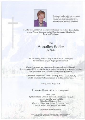 Annalies Kofler