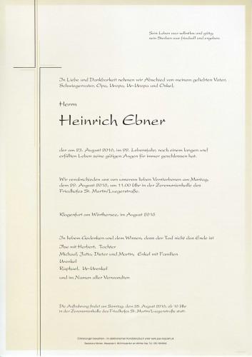 Heinrich Ebner