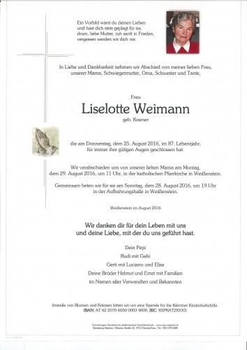 Liselotte Weimann geb. Kramer