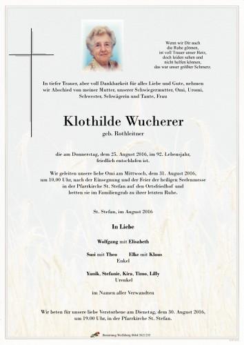 Klothilde Wucherer geb. Rothleitner