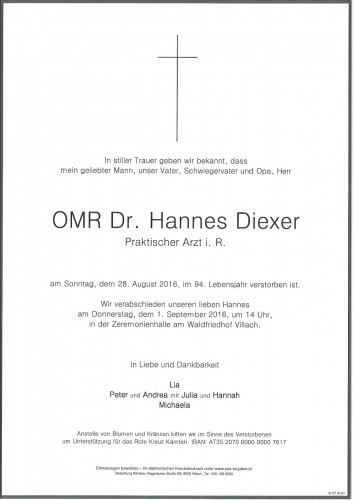OMR Dr. Hannes Diexer