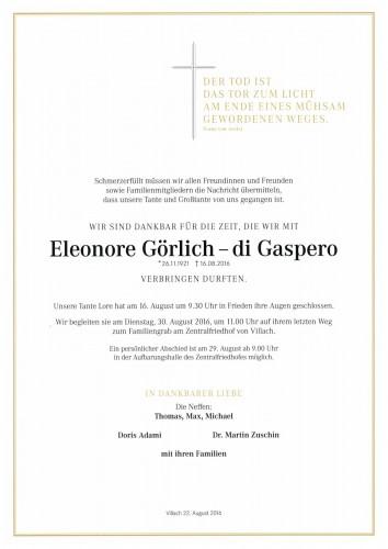 Eleonore Görlich - di Gaspero