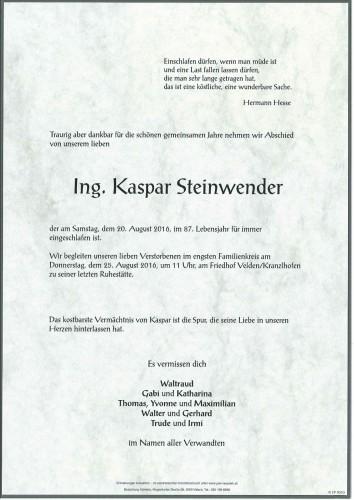 Ing. Kaspar Steinwender
