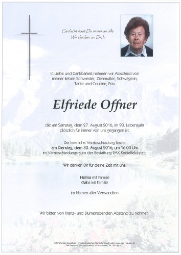 Elfriede Offner