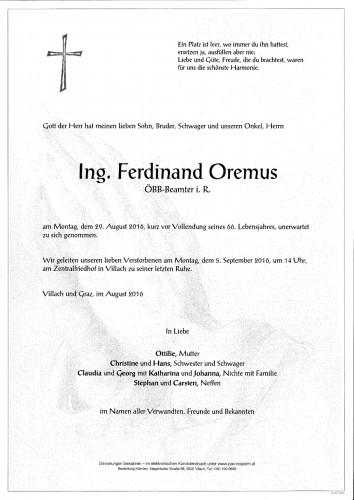 Ing. Ferdinand Oremus