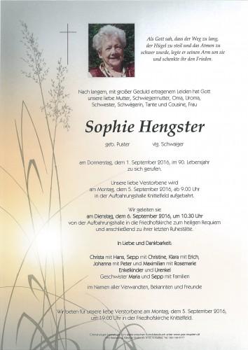 Sophie Hengster