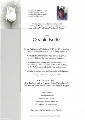 Oswald Kofler