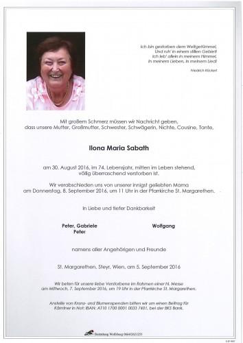 Ilona Maria Sabath