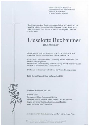 Lieselotte Buxbaumer geb. Schlesinger