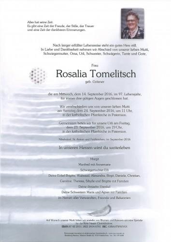 Rosalia Tomelitsch