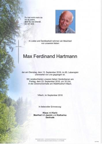 Max Ferdinand Hartmann
