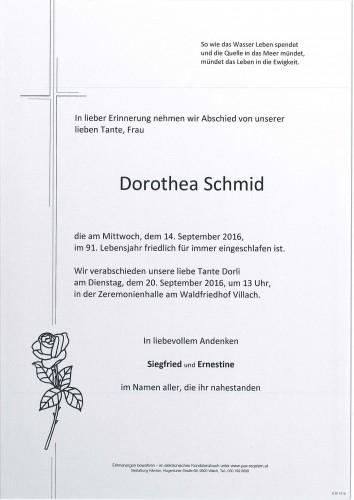 Dorothea Schmid