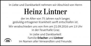 Heinz Lintner
