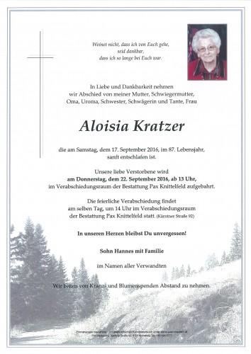 Aloisia Kratzer