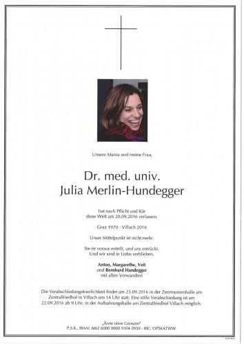 Dr. med. univ. Julia Merlin-Hundegger