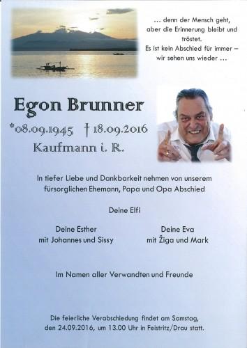 Egon Brunner, Kaufmann i.R.
