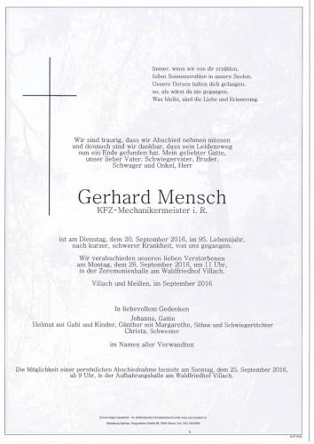 Gerhard Mensch
