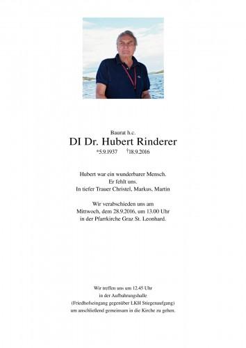 DI Dr. Hubert Rinderer Baurat h.c.