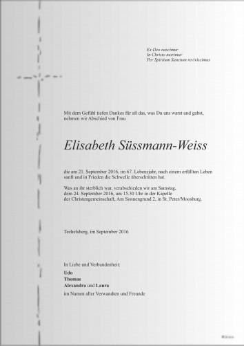 Elisabeth Süssmann-Weiss