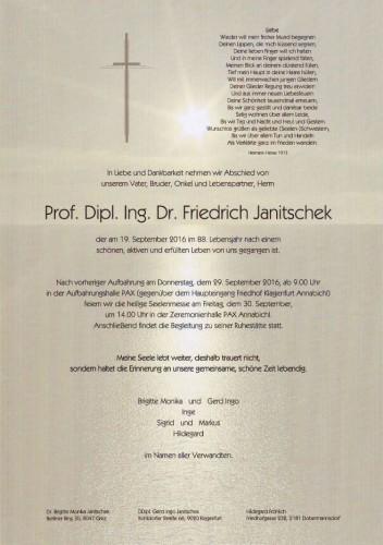 Prof. Dipl. Ing. Dr. Friedrich Janitschek