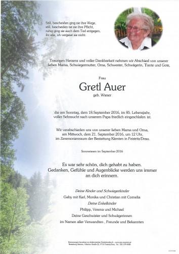 Margaretha Auer, geb. Wieser
