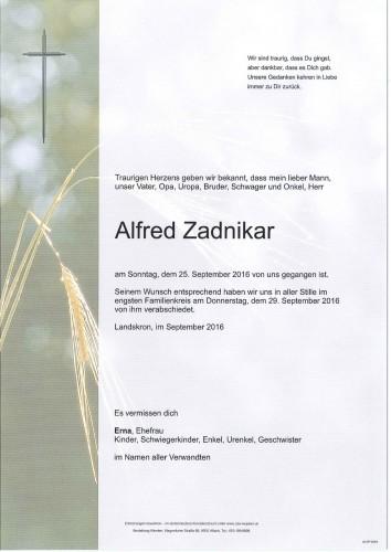 Alfred Zadnikar
