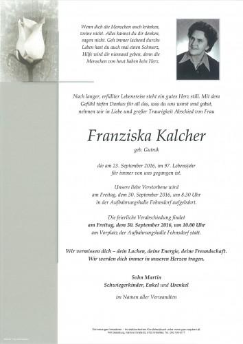 Franziska Kalcher
