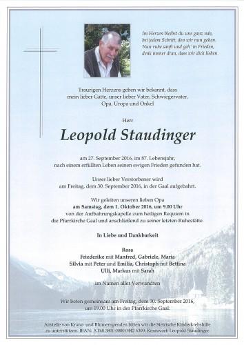 Leopold Staudinger