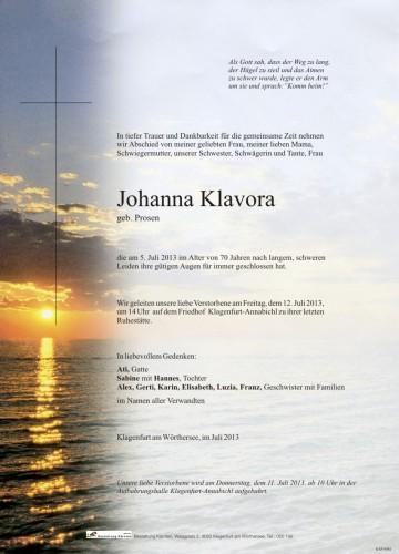 Johanna Klavora