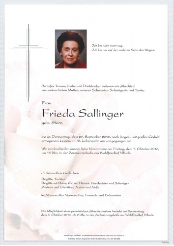 Frieda Sallinger