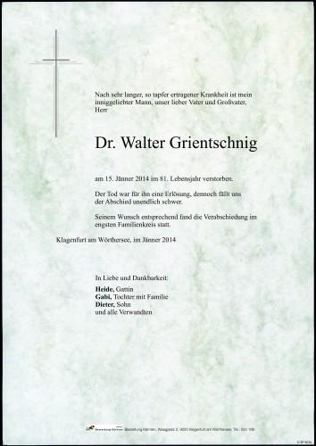 Dr. Walter Grientschnig