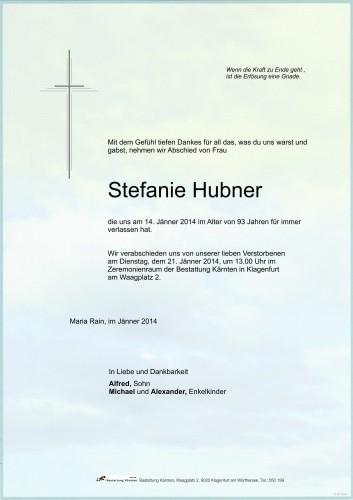 Stefanie Hubner