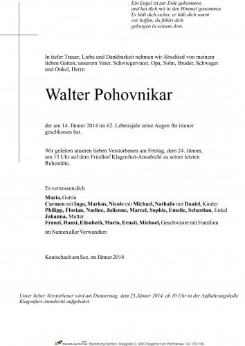 Walter Pohovnikar