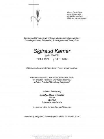 Sigtraud Karner
