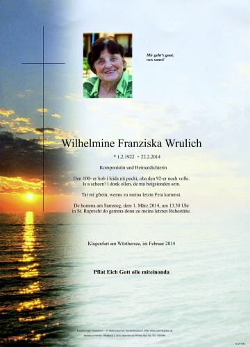 Wilhelmine Franziska Wrulich