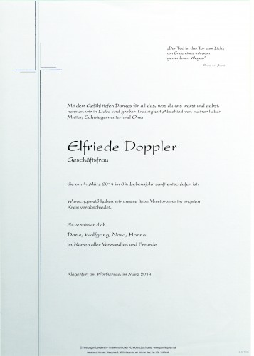 Elfriede Doppler