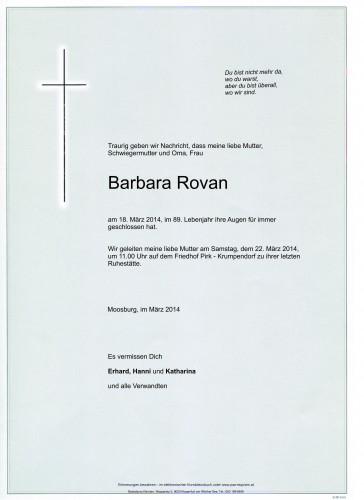 Barbara Rovan