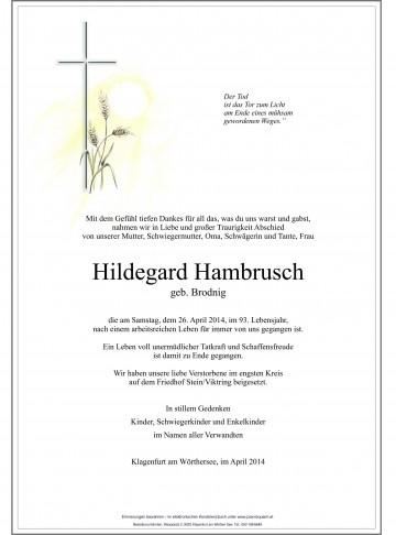 Hildegard Hambrusch