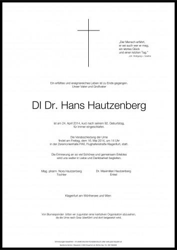 DI Dr. Hans Hautzenberg
