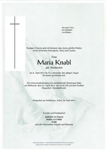 Maria Knabl