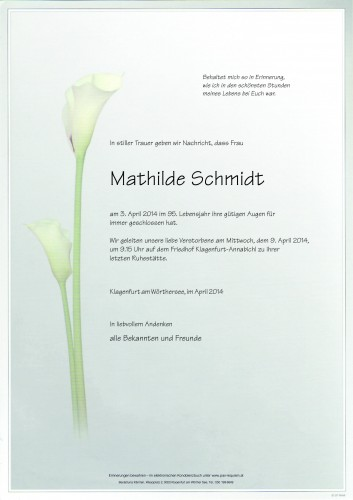 Mathilde Schmidt