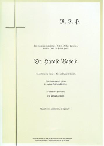 Dr. Harald Vasold