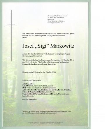 """Josef """"Sigi"""" Markowitz"""