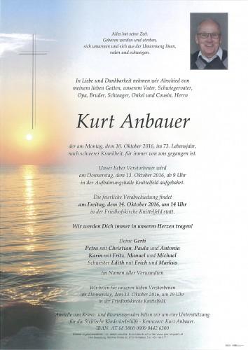 Kurt Anbauer