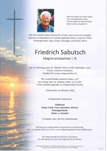 Friedrich Sabutsch