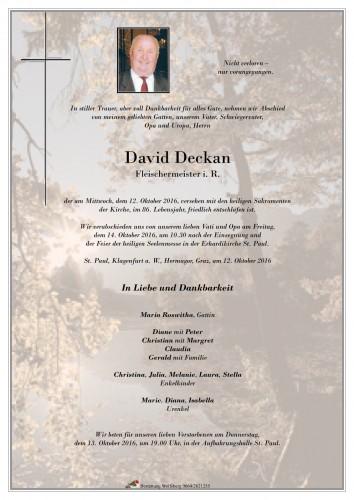 David Deckan
