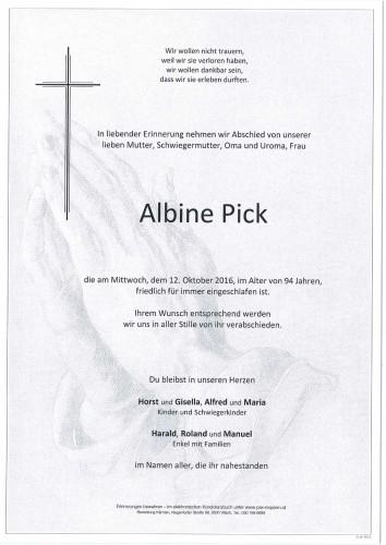 Albine Pick