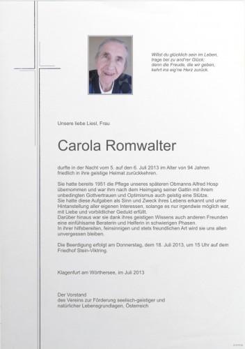Carola Romwalter