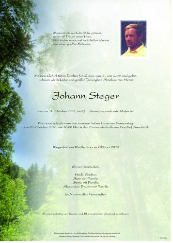 Johann Steger